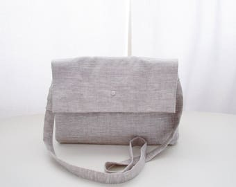 Messenger bag purse satchel saddlebag linen