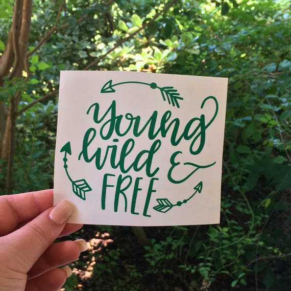 Young Wild And Free Quotes Tumblr: Young Wild And Free Quote Decal Arrows Decal Wild And Free