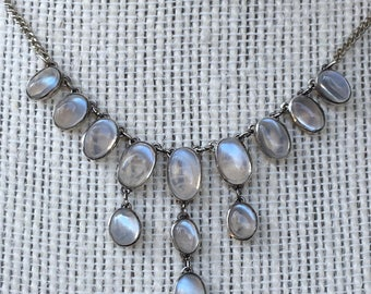 Vintage Antique Edwardian Moonstone Necklace