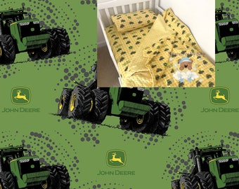 Green Tractor Toddler Bedding Set Tractor Toddler Bedding Blanket Tractor Fitted Sheet Pillow Case 100% Cotton Toddler Bedding