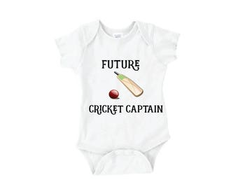 Future Cricket Captain onesie or tee for the Pakistani, Indian, or South Asian Baby // Bollywood Kids Styles
