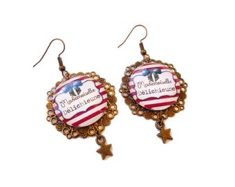 "Humorous messages - ""Deli (bitch)"" delichieuse earrings"