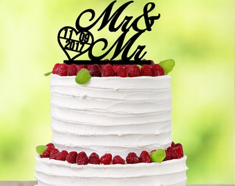 Gay Wedding Toppers - Gay Wedding Cake Topper - Personalized Gay Wedding Cake Topper - Gay Couples - Wedding Cake Topper Gay - Mr Mr