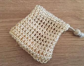 Sisal Soap Saver, Sisal Soap Bag, Natural Sisal Soap Bag, Soap Sack, Sisal Washcloth Pouch, Sisal Exfoliating Pouch