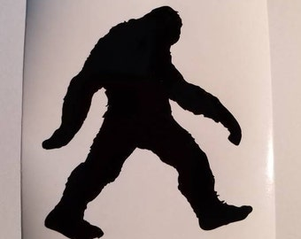 Sasquatch Bigfoot Decal - permanent vinyl - perfect for mancave, Yeti & Rtic cups, coolers, car windows, etc. Decal only.
