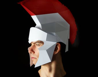 CENTURION'S HELMET - Make your own paper helmet with this instant download template