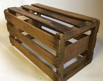 Vintage Wooden crate storage