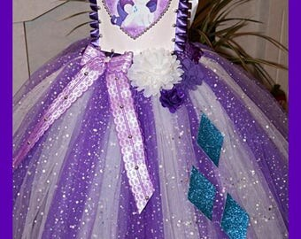 Handmade Girls Rarity My Little Pony Tutu Dress