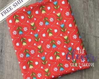 Quilting Fabric, Stripe Red, Dutch Treat, Betz White, Riley Blake Designs, Yardage