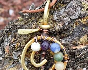 Cho Ku Rei Necklace Reiki Jewelry Chakra Necklace Chakra Stones Energy Healing Boho Bohemian