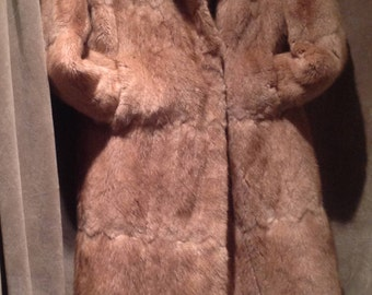 Vintage Real Fur Coat / Full lenght Real Full Coat