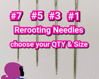 Rerooting Needles Choose 8, 12 or 24 pack  Choose #1s, #3s, #5s or #7's For Rerooting Rehairing Customizing Fashion Dolls & My Little Pony