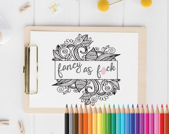 Sweary Coloring Book Download : Sweary coloring book Etsy