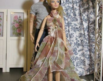 Handmade Doll Clothes, Key to My Heart, Flowy Skirt and Halter, Fits 16 inch Fashion Royalty, Poppy Parker