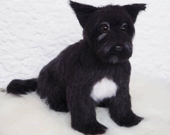 felt dog replica-custom pet-dog portrait-pet memorial-dog lover-pet sympathy-pet loss-pet remembrance-personalized pet-puppy sculpture