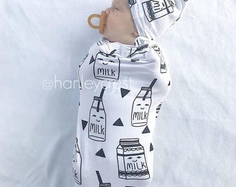 Swaddle Sack, Black and White Swaddle, Gender Neutral Swaddle, Baby Boy Swaddle Sack, Baby Girl Swaddle Sack, Cocoon Swaddle, Baby Shower