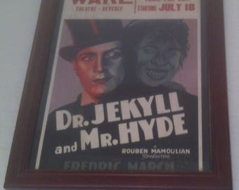 Vintage Photo, Dr. Jekyll and Mr. Hyde, 8 x 10, Theatre, Beverly, Poster, Picture, Wall Decor, Actors