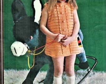 Crochet Dress Pattern 22 to 28 inch chest pdf