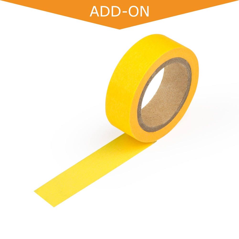 Neon Yellow Solid Color Washi Tape - 15mm Wide, 9.75 Meters Long ...