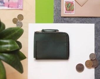 Leather Zip Wallet | Minimalistic wallet  / Zip wallet / Leather Card holder / Men's Leather Wallet / Women's wallet / YKK zip / Coin purse