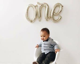 One Cursive Balloon - One Script Balloon - First Birthday Party Decor - First Birthday Balloon - One Balloon - Cursive Balloon