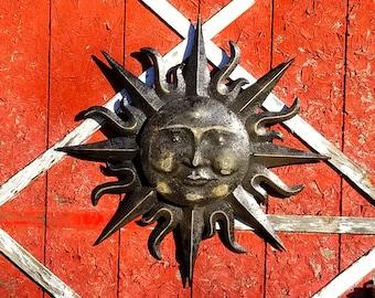 Garden Decor, Metal Sun Wall Art, Outdoor Wall Art, Metal Sun Decor,