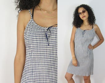 90s Plaid Mini Dress : Size Medium