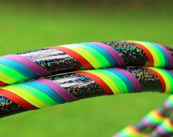 Weighted Dance Hula Hoop   Rainbow Grip