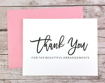 Thank You for the Beautiful Arrangements Card, Florist Thank You Card, Wedding Vendor Thank You - (FPS0017)