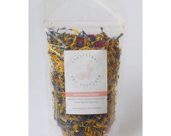 Summer Hay Topper -  Dry Herbs and Flower Treats for Rabbits, Rabbit food, Bunny treats Australia, guinea pig treats Rabbit treats