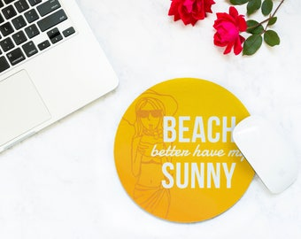 Vacation Funny, Cubicle Decor, Mousepad, Mouse Pad, Cute Mouse Pad, Mousemat, Going Away Gift, Gift for Traveler, Coworker Gift, Wanderlust