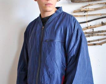 Vintage summer bomber 1990s 1980s oversize hipster wind jacket sport 80s