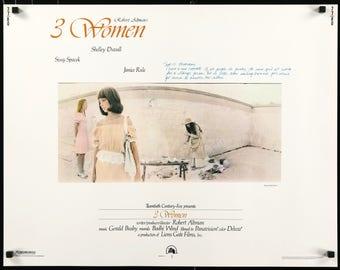 "3 Women (1977) Original Half Sheet Movie Poster - 22"" x 28"""