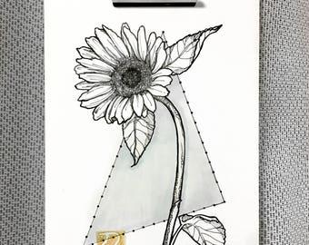 Sunflower drawing (ヒマワリ)