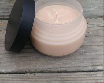 8oz Frosted Glass Candle