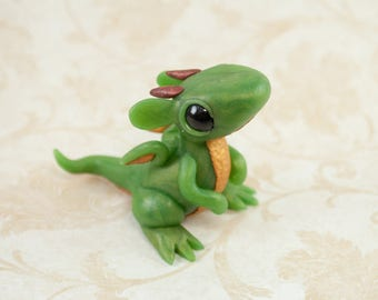 Baby Jade Dragon Figurine, Dragon Sculpture,Dragon Figurine, Dragon Figure, Dragon Hatchling Figurine, Baby Dragon, Dragon Sculpture