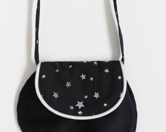 Bag Black and silver girl stars