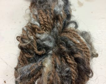 Undyed Melody - Handspun Art Yarn (Shetland, Pelsull)