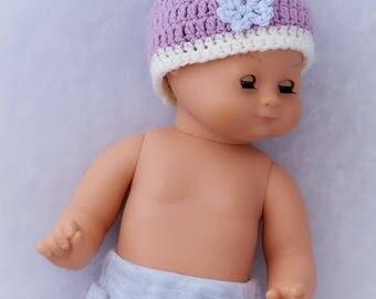 Newborn baby girl hat- Crochet newborn hat- Baby girl beanie- Crochet hat with flower- Newborn photo prop