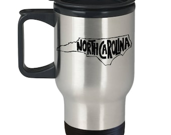 Travel Mug, North Carolina Mug, Thermal Coffee Mug, Coffee Mug, Thermal Travel Mug,