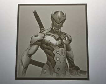 Overwatch Genji Inspired Lithophane
