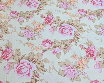 Verna Mosquera Rustic Blush-Antique Rose Cotton Fabric from Free Spirit Fabric