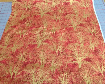 Glistening Trees-Red Cotton Fabric from Paintbrush Studios