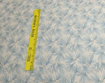 Winter Forest Flannels-Blue Branches on Cream Cotton Flannel Fabric (6603) Designed by Holly Taylor for Moda Fabrics