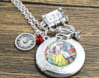 Beauty and the Beast Locket Necklace