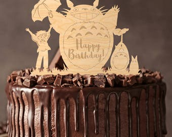 Totoro cake topper,totoro cake toppers,totoro baby,totoro  topper,totoro,totoro birthday,totoro party,totoro baby shower,cake topper,6372017