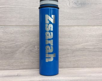 Powder Coated HOGG 25 oz. Bottle - Customized Stainless Steel Bottle - Laser Engraved Water Bottle - Custom Gifts