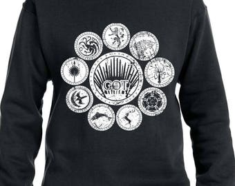 Game of Thrones Sweater House Sigils Game of Thrones Hoodie House Stark House Lannister House Targaryen Gift for Game of Thrones Fan TH433