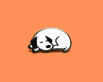 Sleeping Pup Enamel Pin
