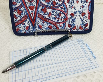 Quilted Checkbook Cover, Checkbook Holder, Check Holder, Checkbook Record, Checkbook Register, Paisley Fabric, Checkbook